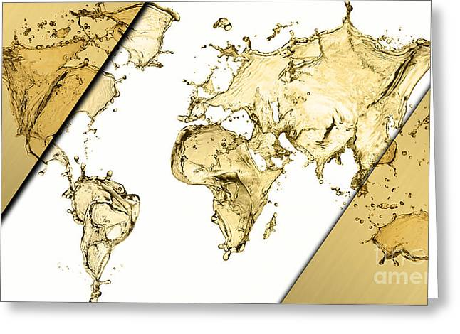 World Map Collection Greeting Card by Marvin Blaine