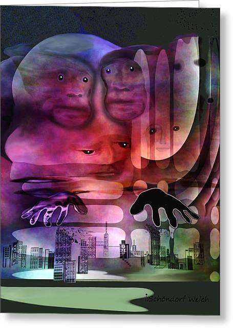 1141 - Lurking ... Greeting Card by Irmgard Schoendorf Welch