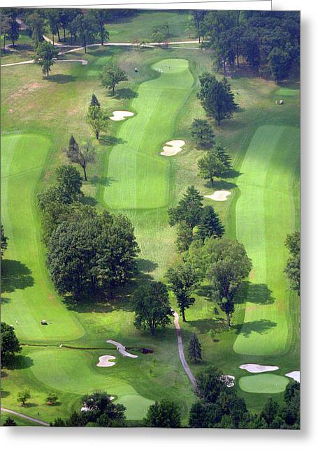 Plymouth Meeting Aerials Greeting Cards - 11th Hole Sunnybrook Golf Club 398 Stenton Avenue Plymouth Meeting PA 19462 1243 Greeting Card by Duncan Pearson