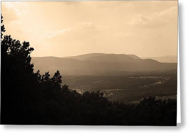 Usa Photographs Greeting Cards - Blue Ridge Mountains Virginia Greeting Card by Frank Romeo