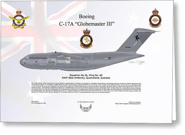 Boeing C-17 Globemaster IIi Greeting Card by Arthur Eggers