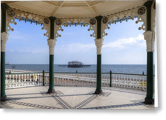 Bandstand Greeting Cards - Brighton Greeting Card by Joana Kruse