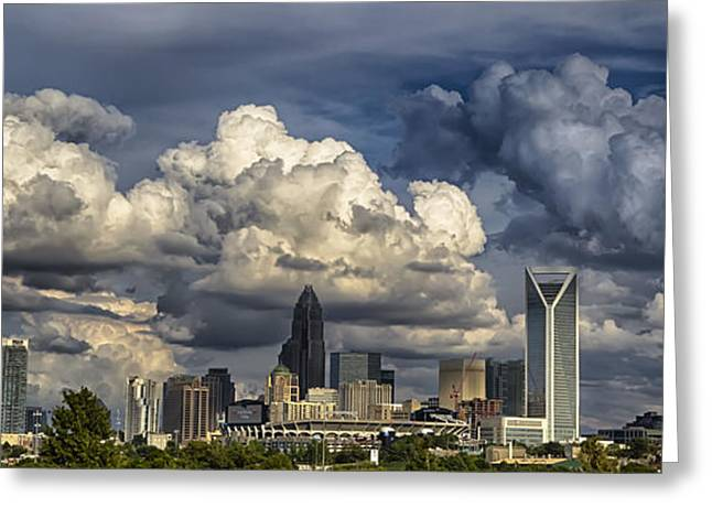 Charlotte North Carolina City Skyline Greeting Card by Alexandr Grichenko