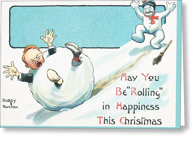 Crying Drawings Greeting Cards - Christmas Card  Greeting Card by English School