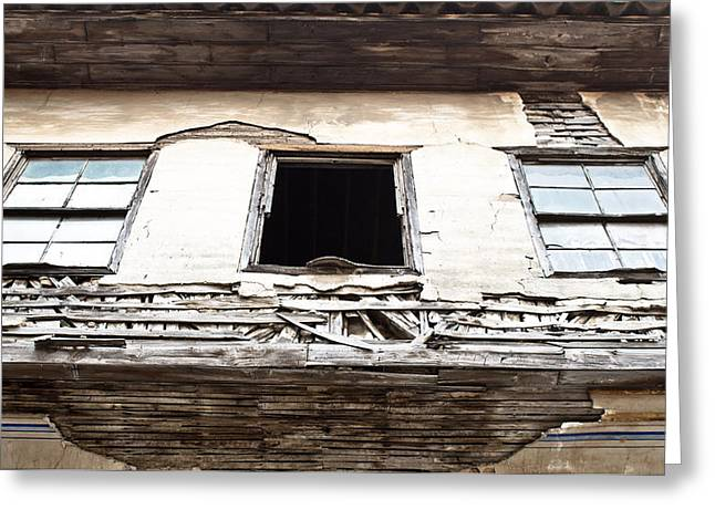 Abandoned House Greeting Cards - Derelict building Greeting Card by Tom Gowanlock