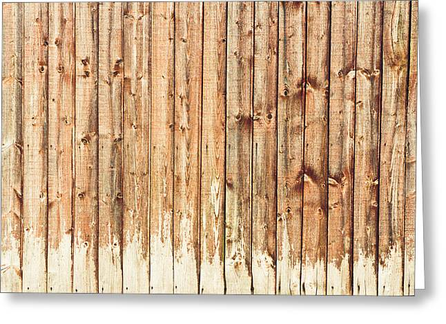 Painted Wood Greeting Cards - Fence panels Greeting Card by Tom Gowanlock