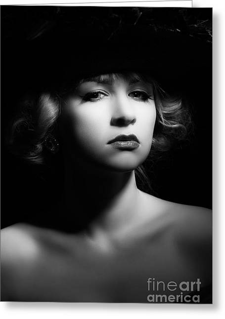 Film Noir Greeting Card by Amanda Elwell