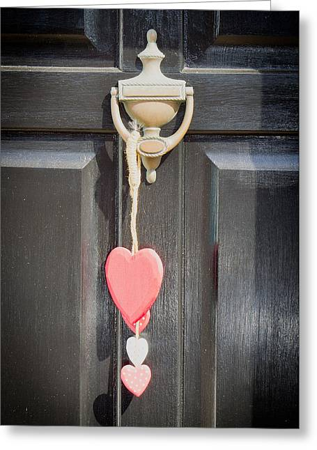 Knock Knock Greeting Cards - Front door Greeting Card by Tom Gowanlock