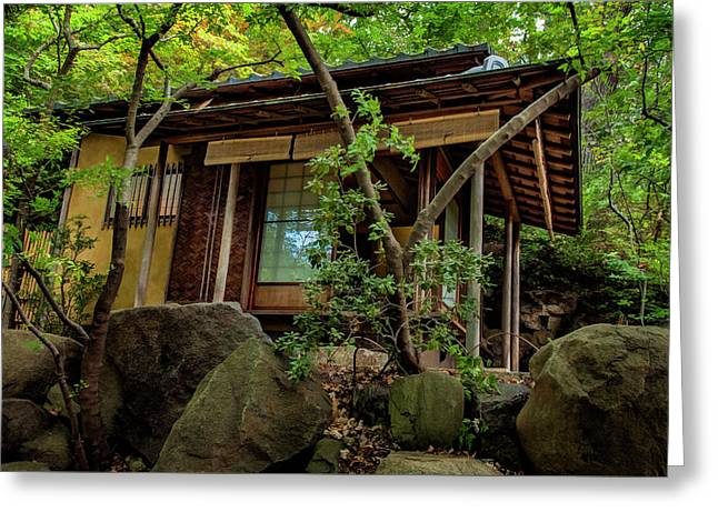 Japanese Garden Greeting Card by Bob Nardi