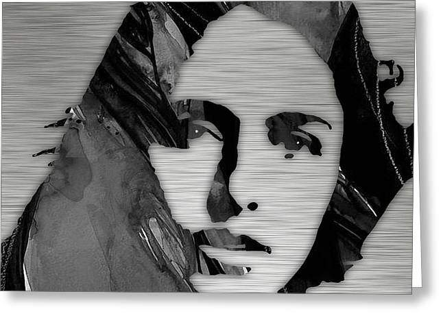 Pop Mixed Media Greeting Cards - Joan Baez Collection Greeting Card by Marvin Blaine