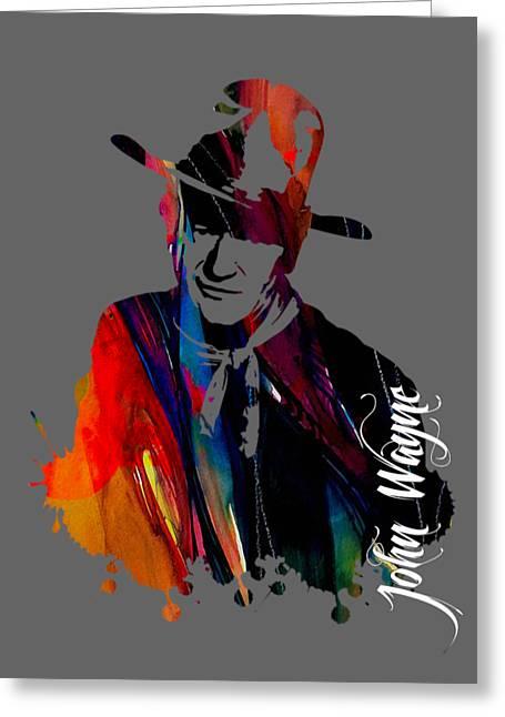 John Wayne Prints Greeting Cards - John Wayne Collection Greeting Card by Marvin Blaine