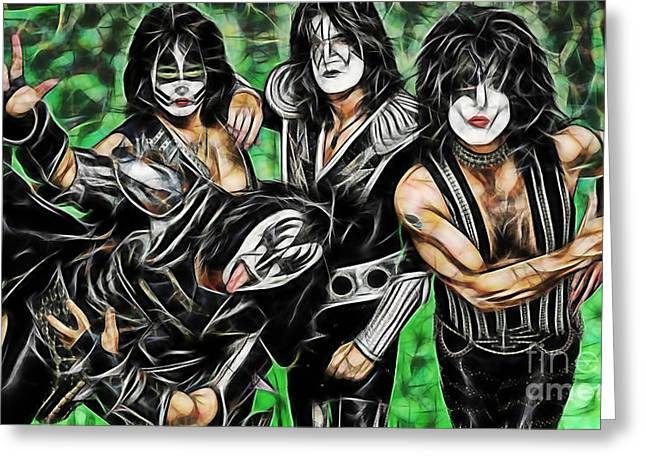 Paul Greeting Cards - Kiss Collection Greeting Card by Marvin Blaine
