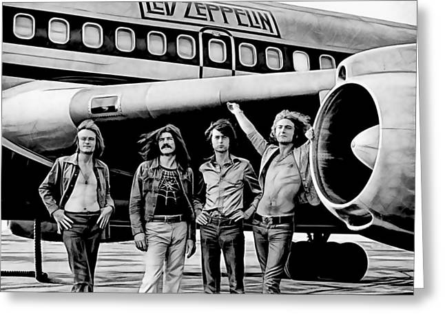 Led Zeppelin Prints Greeting Cards - Led Zeppelin Collection Greeting Card by Marvin Blaine