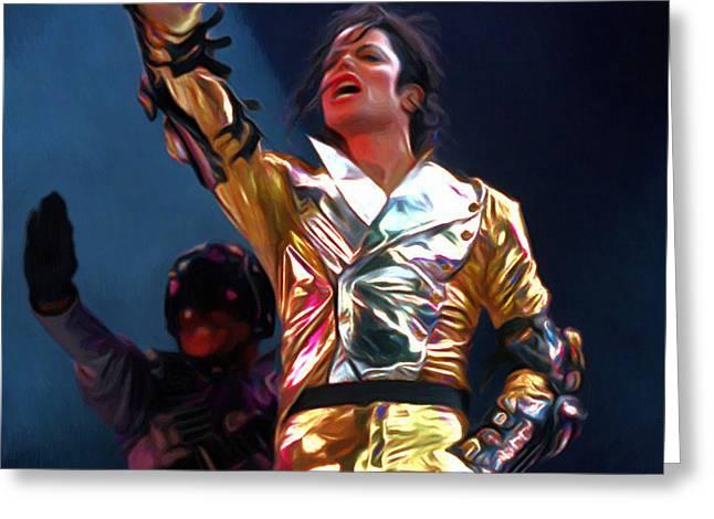 Michael Jackson Greeting Cards - Michael Jackson Art Greeting Card by Victor Gladkiy