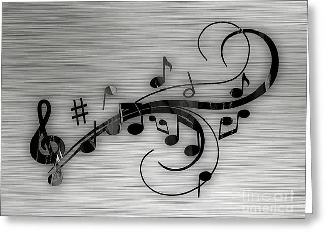 Notes Greeting Cards - Music Flows Collection Greeting Card by Marvin Blaine