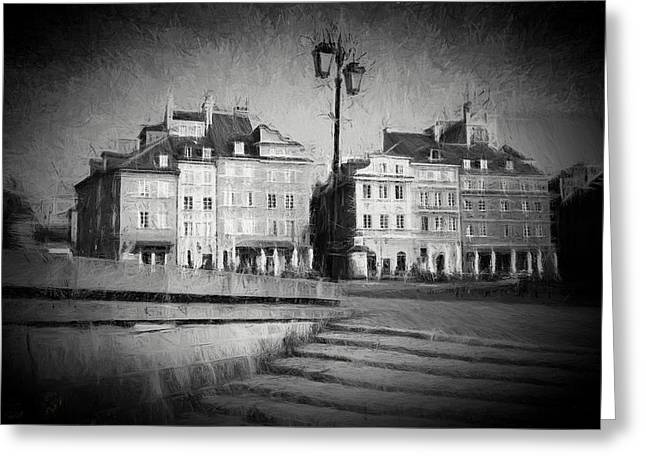 Old Town In Warsaw Greeting Card by Artur Bogacki