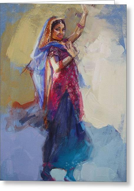 East Asian Culture Greeting Cards - 12 pakistan folk Punjab Greeting Card by Maryam Mughal