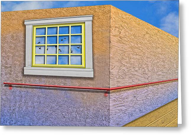 Art Of Building Greeting Cards - 12 Panes Greeting Card by Paul Wear