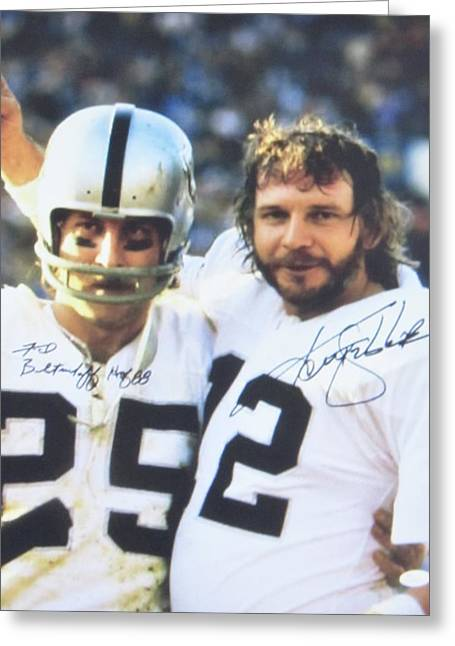 #12 Quarterback Kenny Stabler And #25 Wide Receiver Fred Biletnikoff Greeting Card by Donna Wilson