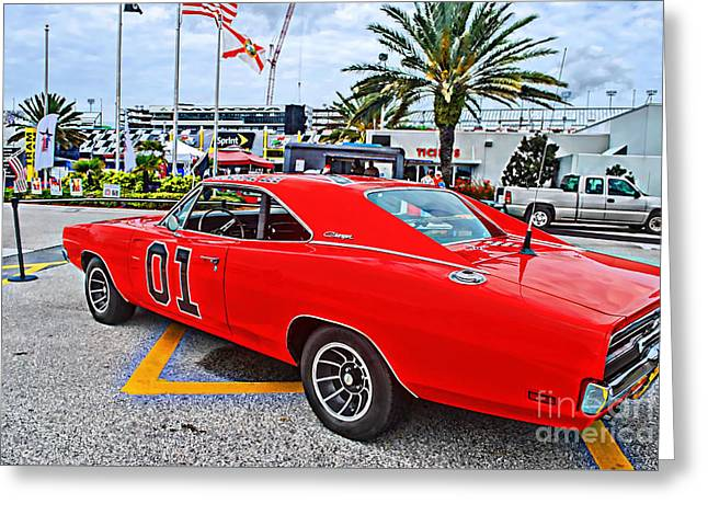 Dukes Of Hazard Show Greeting Cards - Scenes from a Car Show Greeting Card by Julie Cleveland