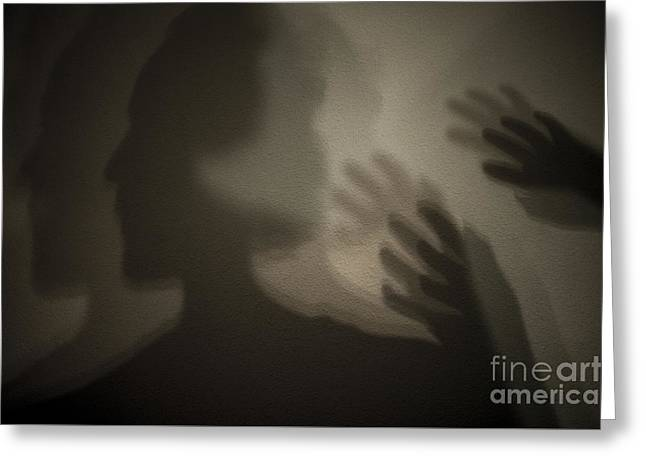Inner Self Greeting Cards - Shadows on Wall Greeting Card by Jim Corwin