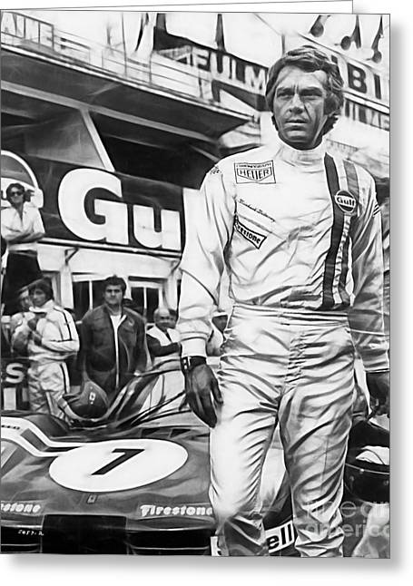 Steve Mcqueen Collection Greeting Card by Marvin Blaine