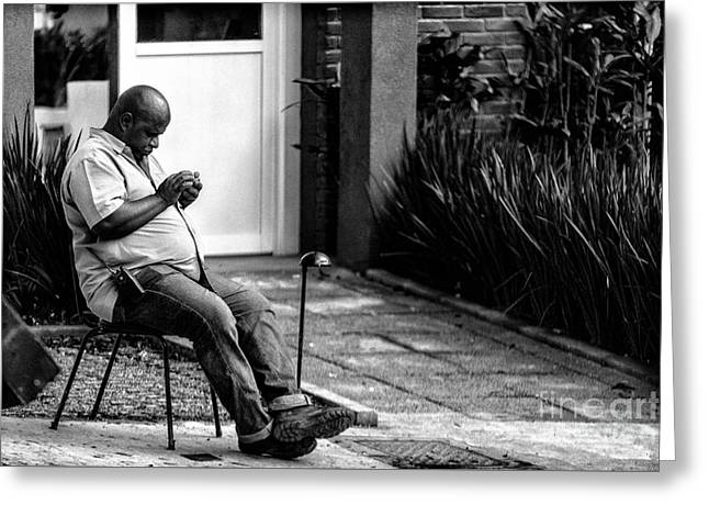 Cellphone Greeting Cards - Street Photography Greeting Card by Glauco Meneghelli