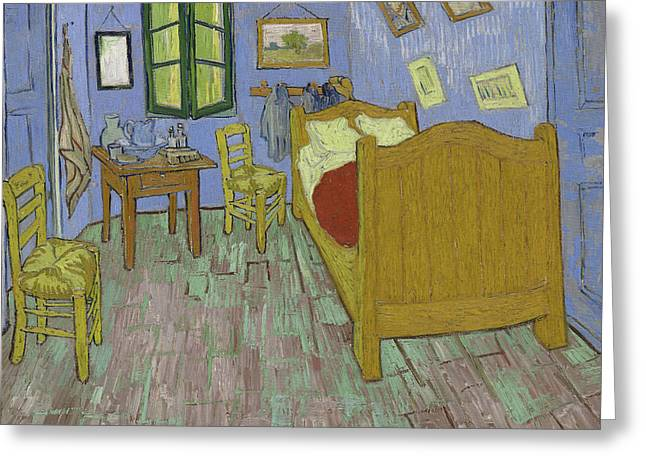The Bedroom Greeting Card by Vincent Van Gogh