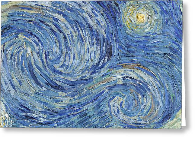 Starry Greeting Cards - The Starry Night Greeting Card by Vincent Van Gogh