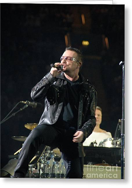 U2 Greeting Cards - U2 Greeting Card by Jenny Potter