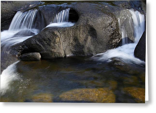 Beautiful Creek Photographs Greeting Cards - Water flowing Greeting Card by Les Cunliffe