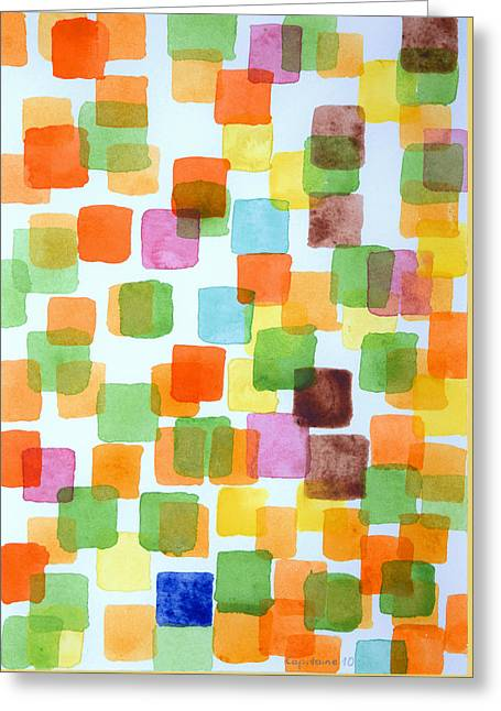 Transparency Geometric Greeting Cards - Yet untitled Greeting Card by Heidi Capitaine