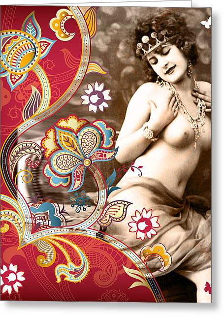 Goddess Greeting Card by Chris Andruskiewicz
