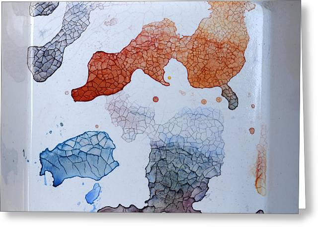 Puddle Paint Greeting Cards - Yet untitled Greeting Card by Heidi Capitaine