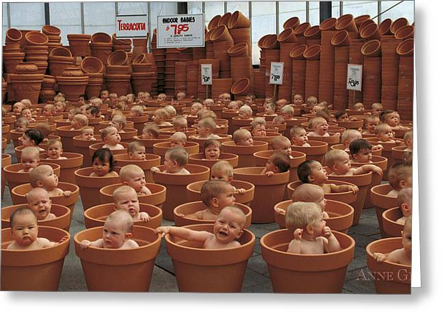 123 Greeting Cards - 123 Pots Greeting Card by Anne Geddes