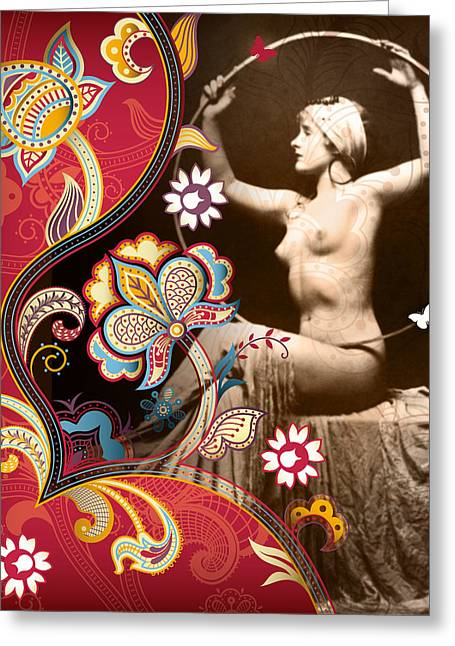 1930s Mixed Media Greeting Cards - Goddess Greeting Card by Chris Andruskiewicz