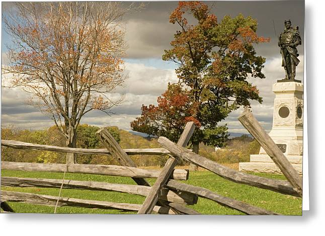 124th Pennsylvania Infantry Monument Greeting Card by Mick Burkey