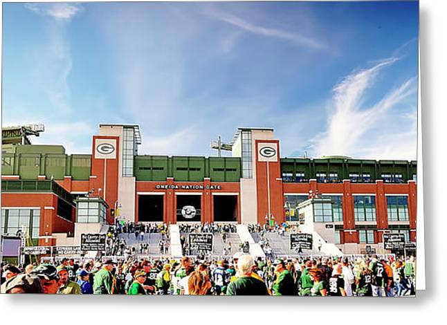 1259 Game Day At Lambeau Field Greeting Card by Steve Sturgill