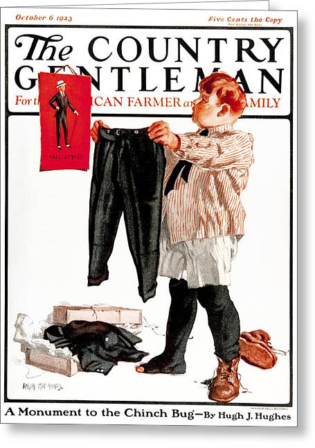 Role Model Greeting Cards - Cover Of Country Gentleman Agricultural Greeting Card by Remsberg Inc