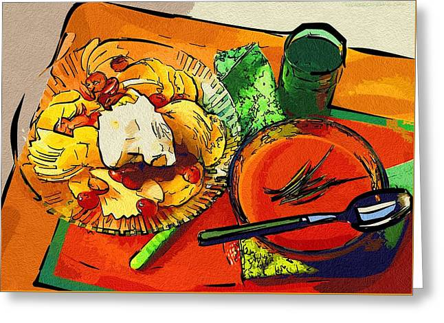 Local Food Digital Greeting Cards - Art Food Food New Greeting Card by Michael Vicin