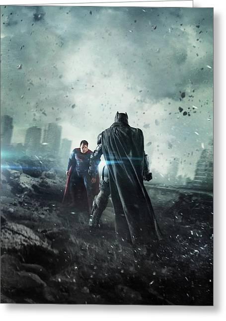 Batman V Superman Dawn Of Justice 2016 Greeting Card by Caio Caldas