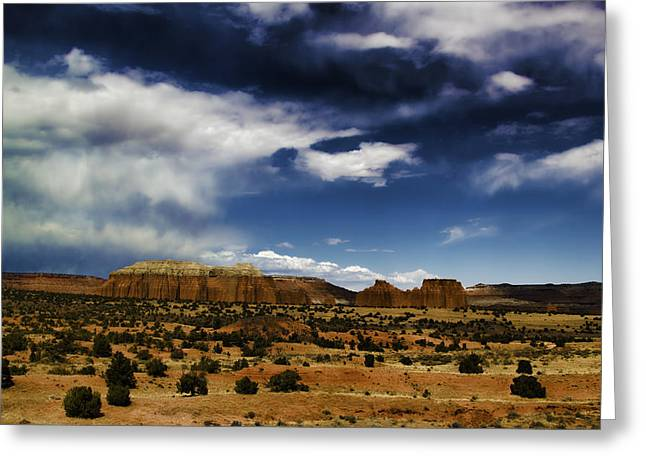 Southern Utah Greeting Cards - Capitol Reef National Park Catherdal Valley Greeting Card by Mark Smith