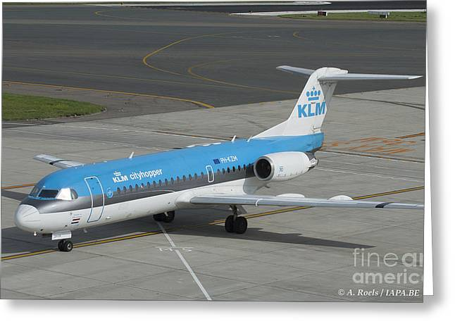 Klm Greeting Cards - Commercial Airlines Greeting Card by Antoine Roels