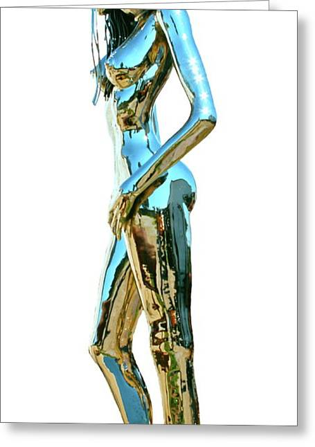 Steel Sculptures Greeting Cards - Evolution of Eve IV Greeting Card by Greg Coffelt