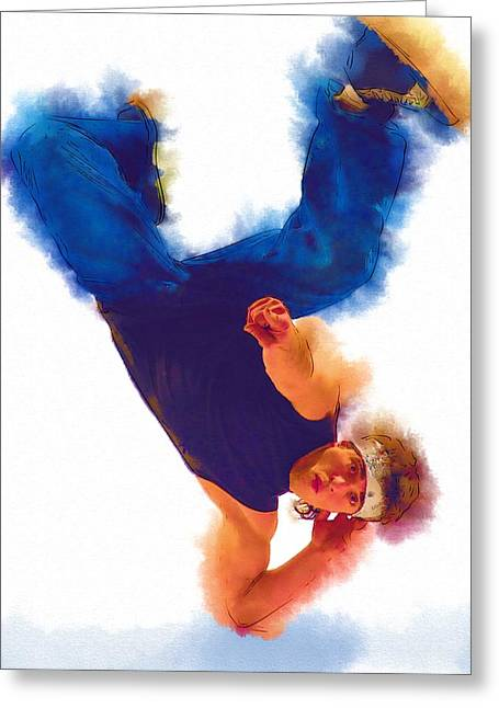 Ballet Dancers Greeting Cards - Floor Dance Greeting Card by Michael Vicin