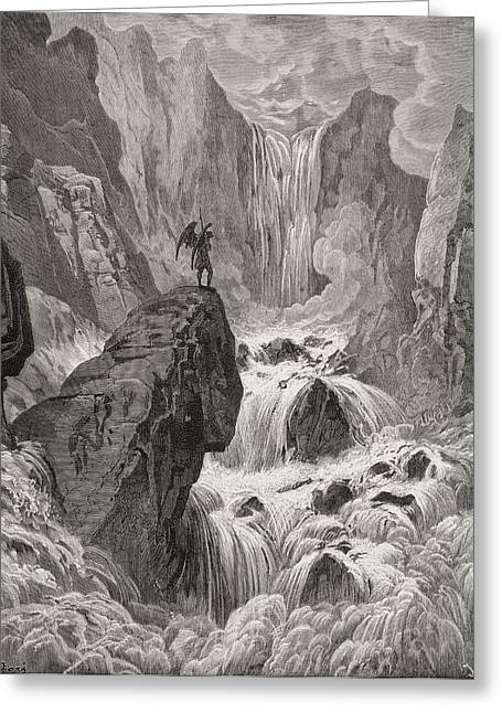 Dore Greeting Cards - Illustration By Gustave Dore 1832-1883 Greeting Card by Vintage Design Pics