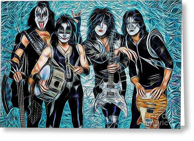 Paul Stanley Greeting Cards - Kiss Collection Greeting Card by Marvin Blaine