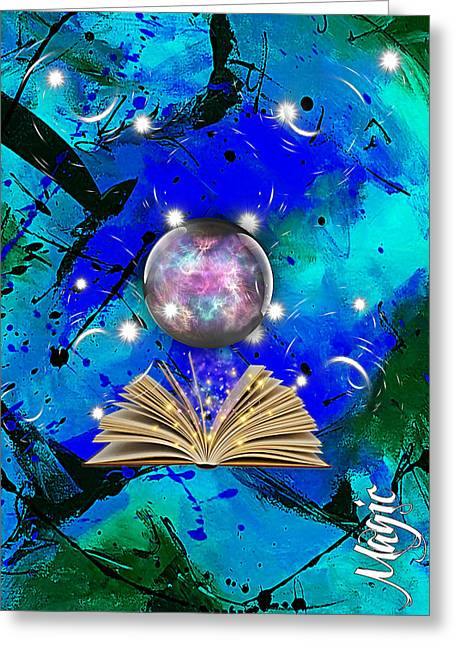 Magic Collection Greeting Card by Marvin Blaine
