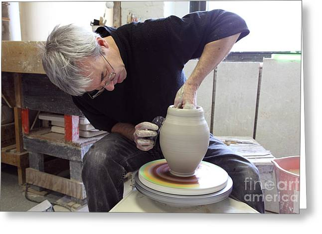 Pottery Wheel, Sequence Greeting Card by Ted Kinsman