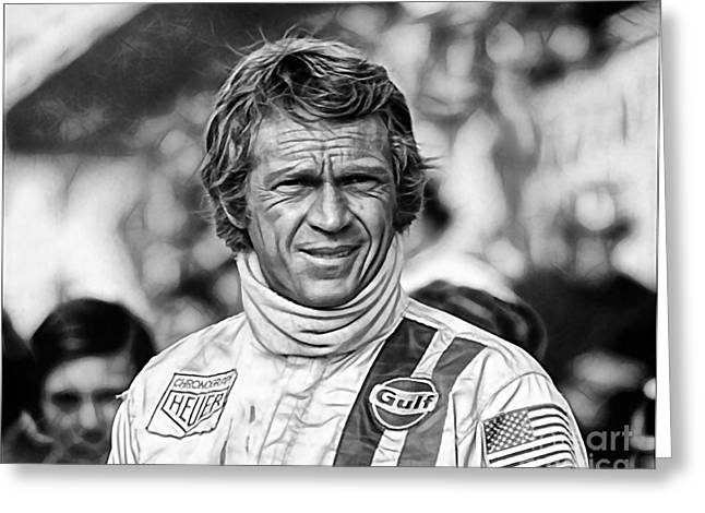 Racing Greeting Cards - Steve McQueen Collection Greeting Card by Marvin Blaine